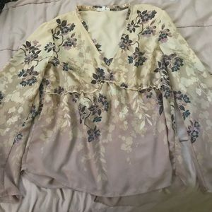 Maurices Flower Blouse